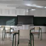 Foto de la instalación realizada por Deacústica para el colegio público de La Vaguada en Cartagena, Murcia, como solución a un problema de ruido en clase.